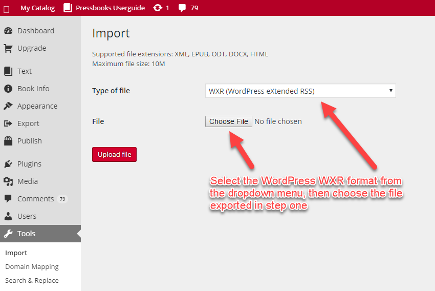 Importing from WordPress