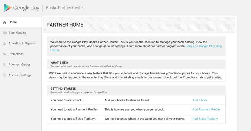Google Books Partner Center
