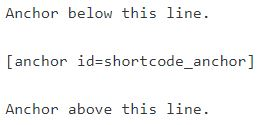 Example of the anchor shortcode in use.