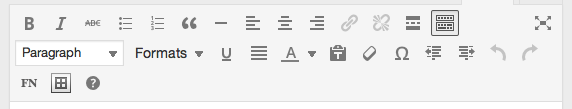 Pressbooks editing toolbar