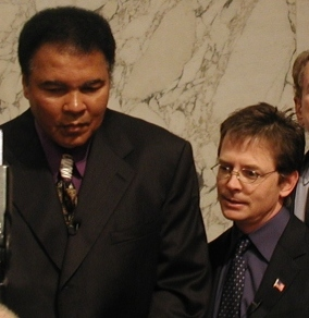 12.6 Ali and Fox advocate for Parkinson's Disease research